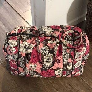 Vera Bradley Large Duffel Bag in Mocha Rouge